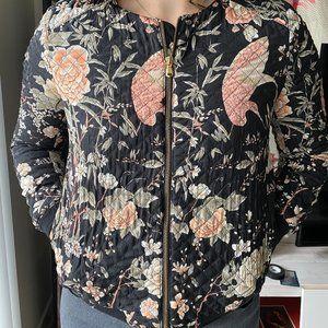 Zara print bomber jacket